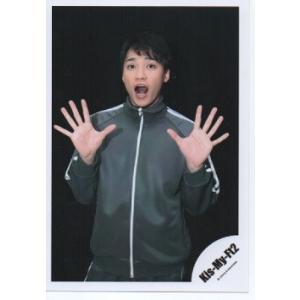 二階堂高嗣(Kis-My-Ft2/キスマイ) 公式生写真/舞祭組村のわっと!驚く!第1笑・背景黒・口開け・カメラ目線・両手パー|arraysbook