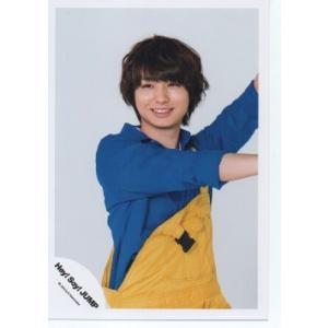 伊野尾慧(Hey!Say!JUMP) 公式生写真/JUMPing CAR・衣装青×黄色・背景グレー|arraysbook