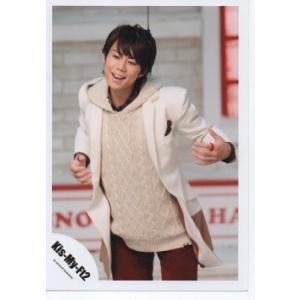 北山宏光(Kis-My-Ft2/キスマイ) 公式生写真/SNOW DOMEの約束・衣装白×赤・口開け|arraysbook