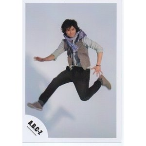 橋本良亮(A.B.C-Z)公式生写真/5stars 2012・衣装水色×グレー×黒・目線右方向・背景白・口閉じ|arraysbook