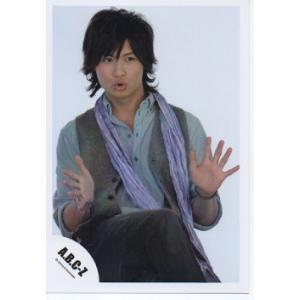 橋本良亮(A.B.C-Z)公式生写真/5stars 2012・衣装水色×グレー×黒・目線右方向・背景白・両手パー|arraysbook
