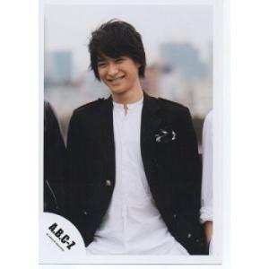 戸塚祥太(A.B.C-Z)公式生写真/衣装黒×白・歯見せ・笑顔・目線若干左|arraysbook