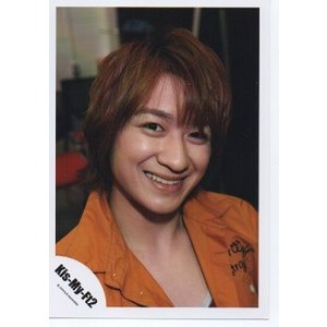 宮田俊哉(Kis-My-Ft2/キスマイ) 公式生写真/衣装オレンジ・カメラ目線・歯見せ|arraysbook