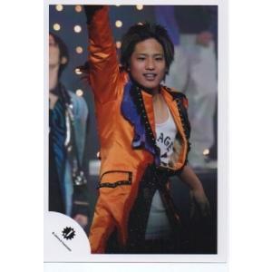 桐山照史(ジャニーズWEST) 公式生写真/Jロゴ・衣装オレンジ×紫×白・歯見せ|arraysbook