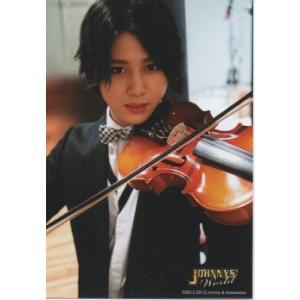 山田涼介(Hey!Say!JUMP) 公式生写真/ジャニーズワールド 2012-2013・衣装黒×白・カメラ目線・バイオリン|arraysbook