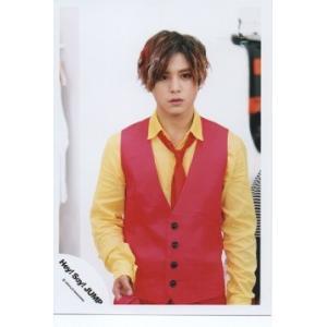 山田涼介(Hey!Say!JUMP) 公式生写真/ウィークエンダー・衣装赤×黄色・背景白|arraysbook