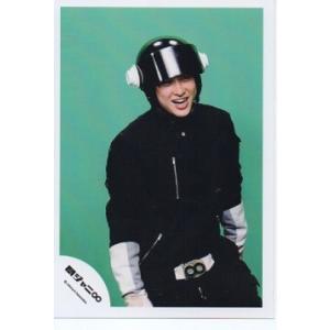 横山裕(関ジャニ∞) 公式生写真/エイトレンジャー衣装黒×白・背景黄緑・口開け arraysbook