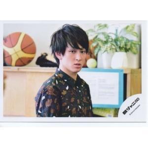 横山裕(関ジャニ∞) 公式生写真/衣装紺×白×茶色・カメラ目線 arraysbook