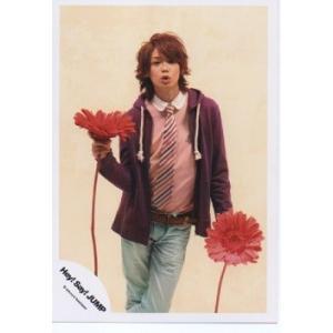 高木雄也(Hey!Say!JUMP) 公式生写真/衣装紫×ピンク×白・もの持ち・背景ベージュ|arraysbook