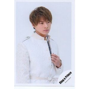 平野紫耀(キンプリ) 公式生写真/Memorial・衣装白・左手服・背景白 arraysbook