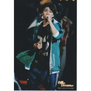 神山智洋(ジャニーズWEST) 公式生写真/台風n Dreamer 2014・衣装緑×黒×銀×白・マイク持ち|arraysbook