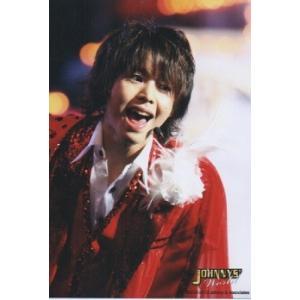 有岡大貴(Hey!Say!JUMP) 公式生写真/ジャニーズワールド 2012-2013・衣装赤×白・口開け arraysbook