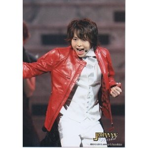 有岡大貴(Hey!Say!JUMP) 公式生写真/ジャニーズワールド 2012-2013・衣装赤×白・口開け・目線若干左 arraysbook
