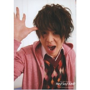有岡大貴(Hey!Say!JUMP) 公式生写真/ASIA FIRST TOUR 2012・衣装ピンク×赤×黒×白・カメラ目線・口開け arraysbook