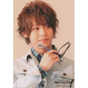 有岡大貴(Hey!Say!JUMP) 公式生写真/ASIA FIRST TOUR 2012・衣装白×緑・メガネ持ち arraysbook