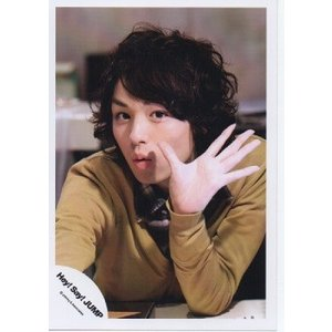伊野尾慧(Hey!Say!JUMP) 公式生写真/衣装黄色・カメラ目線・手パー|arraysbook