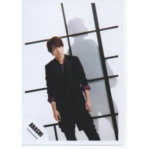櫻井翔(嵐) 公式生写真/Japonism・衣装黒×紫・背景白×黒・口閉じ|arraysbook