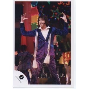 高木雄也(Hey!Say!JUMP) 公式生写真/Jロゴ・衣装青×黒×紫×白・口開け・両手横 arraysbook