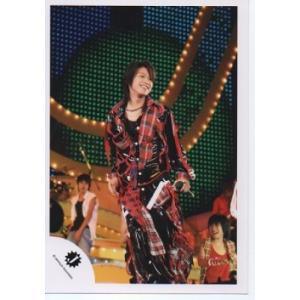 高木雄也(Hey!Say!JUMP) 公式生写真/Jロゴ・衣装赤×黒×白・マイク持ち・笑顔|arraysbook