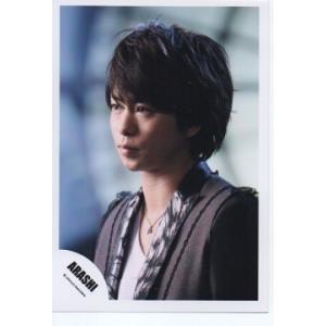 櫻井翔(嵐) 公式生写真/Monster・衣装黒×白・口閉じ・ネックレス|arraysbook