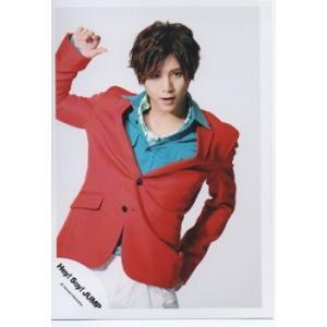 山田涼介(Hey!Say!JUMP) 公式生写真/ウィークエンダー・衣装赤×水色×白・背景白|arraysbook