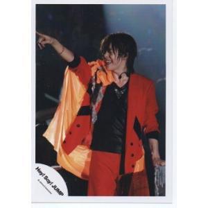 有岡大貴(Hey!Say!JUMP) 公式生写真/衣装赤×黒×オレンジ・人差し指差し・口開け|arraysbook