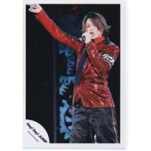 高木雄也(Hey!Say!JUMP) 公式生写真/衣装赤×黒・マイク持ち・右手上|arraysbook