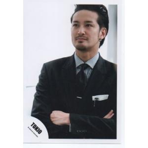 松岡昌宏(TOKIO) 公式生写真/衣装黒×白・背景白・腕組み arraysbook