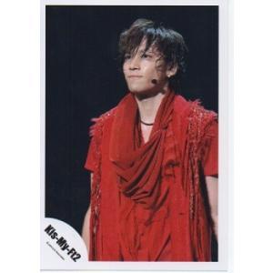 千賀健永(Kis-My-Ft2/キスマイ) 公式生写真/衣装赤・背景黒・口閉じ・目線若干左 arraysbook