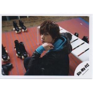 千賀健永(Kis-My-Ft2/キスマイ) 公式生写真/Goodいくぜ!2013・衣装黒×水色・カメラ目線・口閉じ|arraysbook