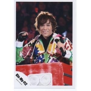 千賀健永(Kis-My-Ft2/キスマイ) 公式生写真/衣装黄緑×黄色×青×ピンク×白・マイク持ち arraysbook