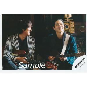 丸山隆平&錦戸亮(関ジャニ∞) 公式生写真/侍唄・ギター持ち・歯見せ