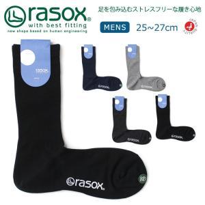 (ラソックス) rasox 靴下 ソックス セミドレス メンズ 男性用 日本製 (bu170cr01)|arrowhead