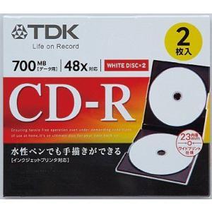 ★TDK CD-R80PWD2A-H(4906933605311) データ用CD-R 2枚組 ホワイト