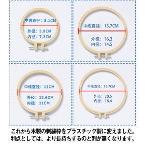 刺繍枠 刺しゅう枠 4点セット プラスチック製 クロスステッチツール 刺繍フープ 刺繍ツール 円 花...