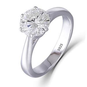 DovEggs 指輪 2カラット リング 一粒 大粒 シルバー アクセサリー モアッサナイト 婚約指輪 女性用|arsion