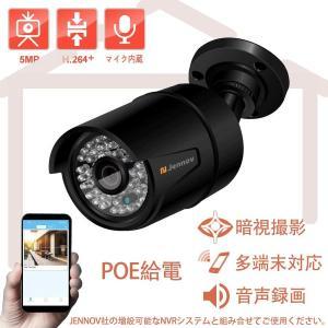 POE 屋外 増設用 監視カメラ 給電 単品 防犯カメラ 500万画素 HD IP66 防水 音声 録画 屋内 赤外線対応 暗視撮影 動体検知 遠隔監視 多端末対応 メール警報|arsion