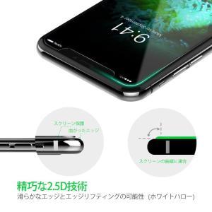 iPhoneX ガラスフィルム 2枚入り 強化ガラス液晶保護シール 3DTouch対応 気泡防止 9H硬度 飛散防止 arsion