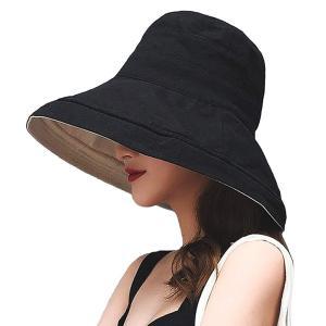 帽子 レディース 日よけ ハット つば広 日よけ帽子 UVカット 遮光 紫外線対策 熱中症予防 日焼け防止 旅行 自転車 サイズ調節可 折りたたみ リボン付き|arsion