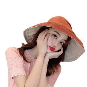 帽子 UV 紫外線100%カット! 新入荷 両面に使用 小顔効果 紫外線カット UVカット 帽子 レディース 大きいサイズ 日よけ 折りたたみ つば広 自転車 飛ばない|arsion