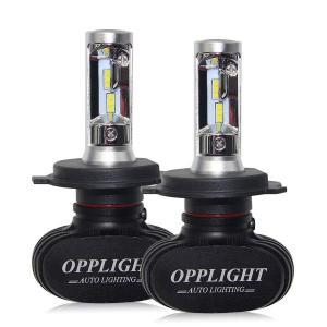LED ヘッドライト ホワイト H4 Hi/Lo 2本セット 車検対応 ファンレス 12V車 バイク用 高輝度 6500K 4000LM 30W 一体型 配線不要|arsion