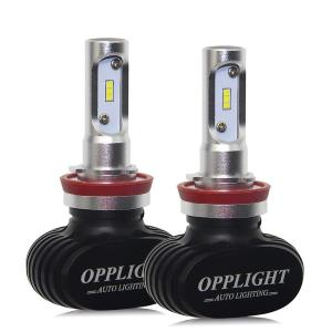 LED ヘッドライト ホワイト H8/H11/H16 2本セット ファンレス 車検対応 フォグランプ 高輝度 6500K 30W 4000LM 12V車 バイク用 一体型 配線不要|arsion