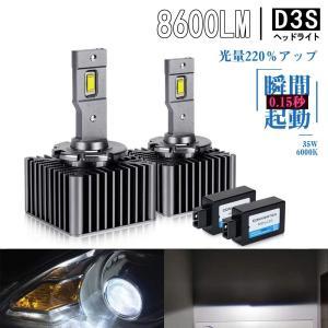 OPPLIGHT D3S LED ヘッドライト 車検対応 ホワイト 6000K 2灯8600LM 35W 両面発光 キャンセラー内蔵 輸入車対応 12V/24V LEDバルブ 取扱説明書付き 2個セット arsion