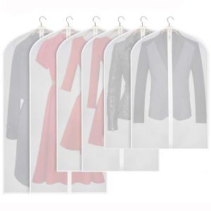 「便利なデザイン」半透明の衣類カバーで中身のかけられた服一目で確認でき、簡単に見つけることができます...