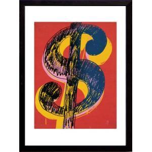 インテリアアート/ポップアート アンディー・ウォーホル Dollar Sign, c.1981(black&yellow on red)(アートポスター/アートパネル/絵画 インテリア) arsonline