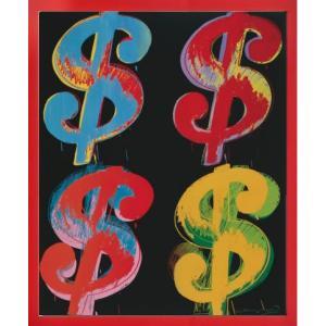 インテリアアート/ポップアート アンディー・ウォーホル Four Dollar Signs, c.1982(アートポスター/アートパネル/絵画 インテリア) arsonline