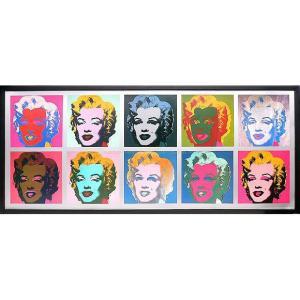 インテリアアート/ポップアート アンディー・ウォーホル 10 Marilyns, 1967(アートポスター/アートパネル/絵画 インテリア) arsonline