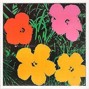 インテリアアート/ポップアート アンディー・ウォーホル Flowers,1964(1red,1pink,2yellow)(アートポスター/アートパネル/絵画 インテリア) arsonline
