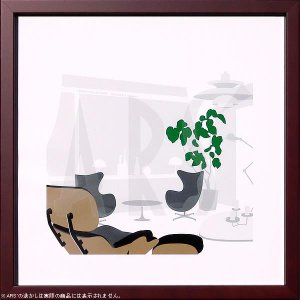 名匠アルネ・ヤコブセンの『エッグチェア(The EGG)』のアートポスターをアートパネルにセット。 ...
