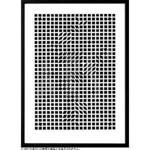 幾何学模様を用いて、錯覚を与える視覚芸術(オプティカルアート)。 その代表作家、ヴィクトル・ヴァザル...